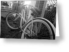 Bicycle In The Sun Greeting Card