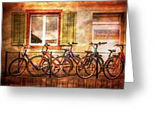 Bicycle Line-up Greeting Card