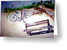 Bicycle On The Beach Greeting Card