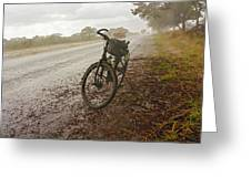 Bicycle On The Road In Botswana Greeting Card