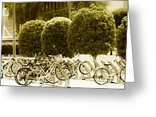 Bicycle Park 2 Greeting Card