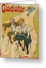 Bicycle Poster, 1895 Greeting Card