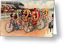 Bicycle Race 1895 Greeting Card