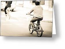 Bicycle Rider Greeting Card