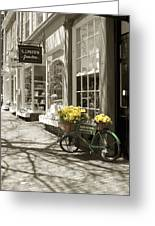 Bicycle With Flowers - Nantucket Greeting Card