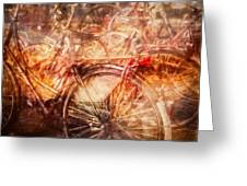Bicycles In Amsterdam Greeting Card by Richard Anderson