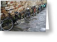 Bicycles In Rome Greeting Card