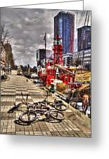 Bicycles In Rotterdam, Netherlands Greeting Card