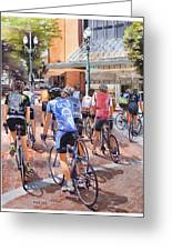 Bicycles On Broadway Greeting Card