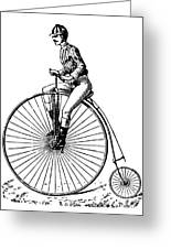 Bicycling, C1890 Greeting Card by Granger