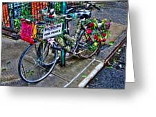 Bicycling For Peace Greeting Card