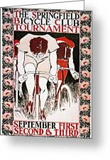 Bicycling Poster, 1896 Greeting Card