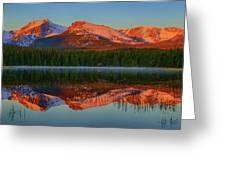 Bierstadt Alpenglow Greeting Card