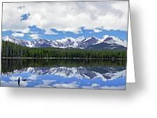 Bierstadt Lake Panorama Greeting Card