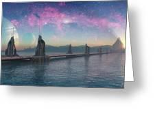 Bifrost Bridge Greeting Card