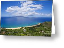 Big Beach Aerial Greeting Card