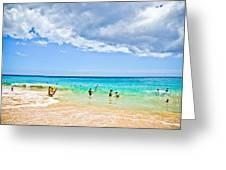 Big Beach Greeting Card