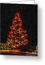 Big Bear Christmas Tree Greeting Card