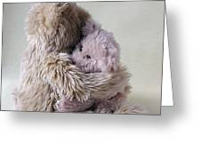 Big Bear Holds Little Bear Greeting Card