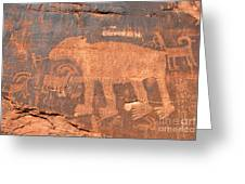 Big Bear Petroglyph Greeting Card
