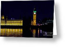 Big Ben Along The Thames Greeting Card
