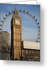 Big Ben And Eye Greeting Card by Donald Davis