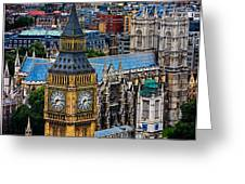 Big Ben And Westminster Abbey Greeting Card