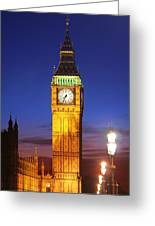 Big Ben At Night Greeting Card by Dan Breckwoldt