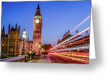 Big Ben By Night Greeting Card
