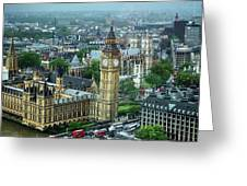 Big Ben From The London Eye Greeting Card