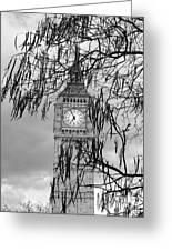Bw Big Ben London Greeting Card