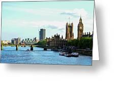 Big Ben, Parliament And River Thames Greeting Card