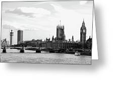 Big Ben, Parliament And Thames River Greeting Card