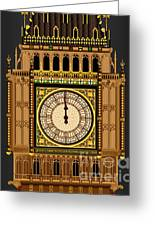 Big Ben Striking Midnight Greeting Card