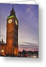 Big Ben Twilight In London Greeting Card