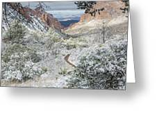 Big Bend Window With Snow Greeting Card