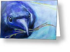 Big Blue Bird Greeting Card