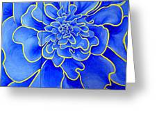 Big Blue Flower Greeting Card by Geoff Greene