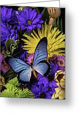 Big Blue Wings Greeting Card