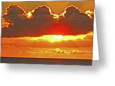 Big Bold Sunset Greeting Card
