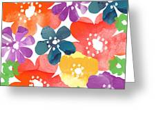 Big Bright Flowers Greeting Card