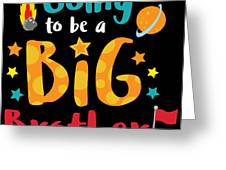 Big Brother Space Theme Light Promotion Greeting Card
