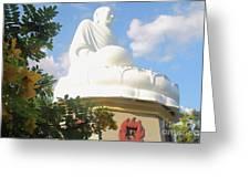 Big Buddha Statue At The Long Son Pagoda In Nha Trang Vietnam Greeting Card