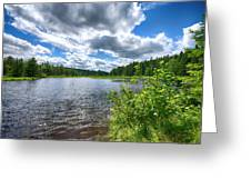 Big Clouds Blue Sky Greeting Card