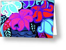 Big Colorful Lillies 2 Greeting Card