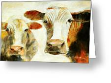 Big Cow Little Cow Greeting Card