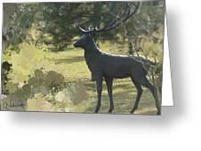 Big Deer Greeting Card