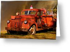 Big Fire - Old Fire Truck Greeting Card