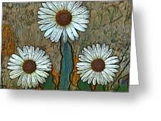 Big Flowers Greeting Card