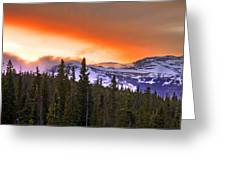 Big Horn Sunset Greeting Card